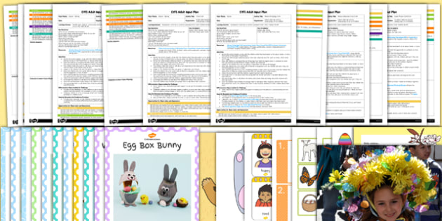 EYFS Easter Adult Input Planning and Resource Pack - adult led, easter