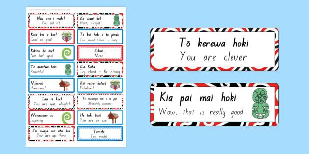 Whakanui i te tamaiti- Praising the Child Signs and Labels