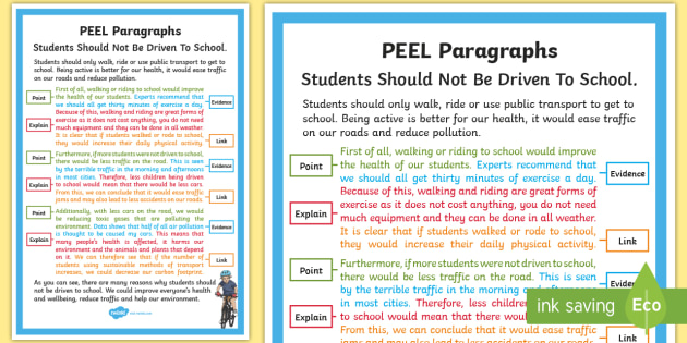 Peel Paragraph Example A4 Display Poster Paragraph Link
