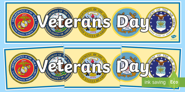 Veterans Day Display Banner