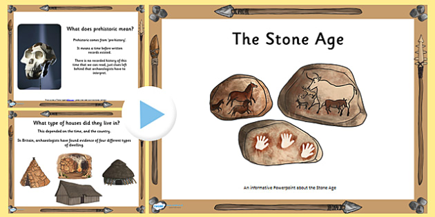Introduction to the Stone Age PowerPoint - stone age, history