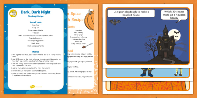 Halloween Playdough Recipe and Mat Pack