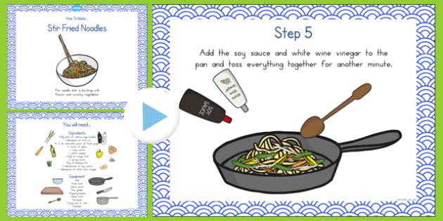 Stir Fried Noodles Recipe PowerPoint - australia, recipe, noodles