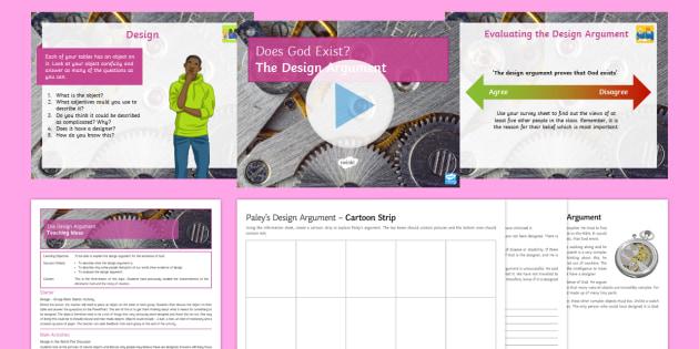 The Design Argument Lesson Pack - God; William Paley; Design Argument, philosophical