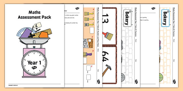 Year 1 Maths Assessment Pack Term 3 - year 1, maths, assessment, pack, term 3