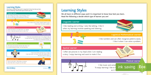 Learning Styles Worksheet / Activity Sheet - Learning styles