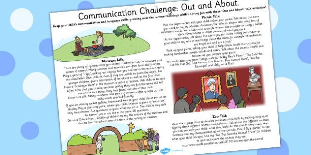 Communication Challenge Out and About - communication, challenge, out, about