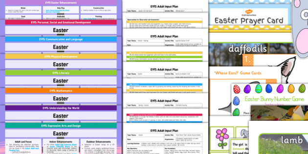 Classroom Enhancement Ideas ~ Eyfs easter themed lesson plan enhancement ideas and resources