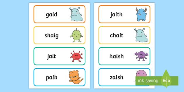 ai\' Alien Word Cards - Phonics Screening Check, ai, blend