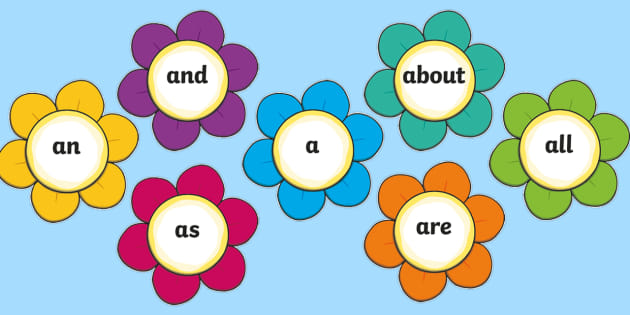 Free 100 High Frequency Words On Flowers Teacher Made
