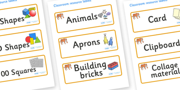 Tiger Themed Editable Classroom Resource Labels - Themed Label template, Resource Label, Name Labels, Editable Labels, Drawer Labels, KS1 Labels, Foundation Labels, Foundation Stage Labels, Teaching Labels, Resource Labels, Tray Labels, Printable lab
