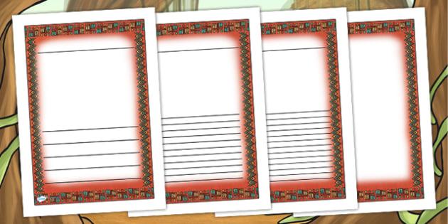 Mayan Civilization Themed Writing Frames - mayans, history, write