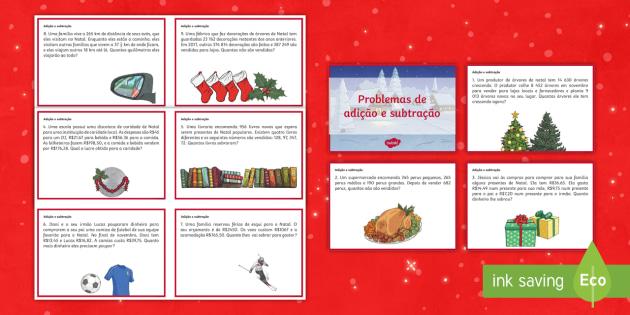 Atividades De Natal Para O 5º Ano Adicao E Subtracao