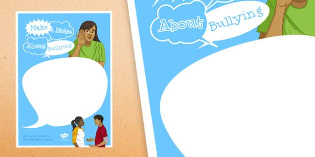 Anti-Bullying Week: Make a Noise about Bullying Speech Bubbles - anti-bullying week, make, noise, bullying, speech