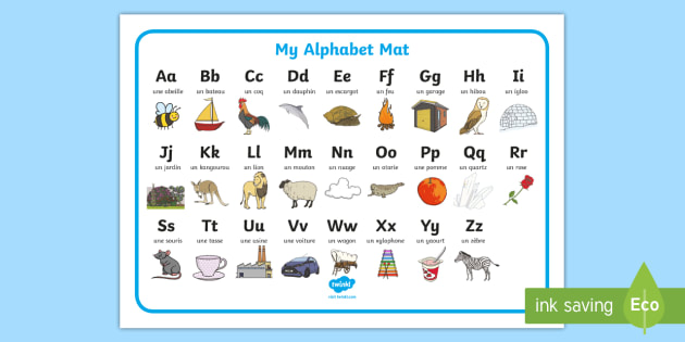 T L 8544 Alphabet A To Z French Word Mat on Resources By Standard