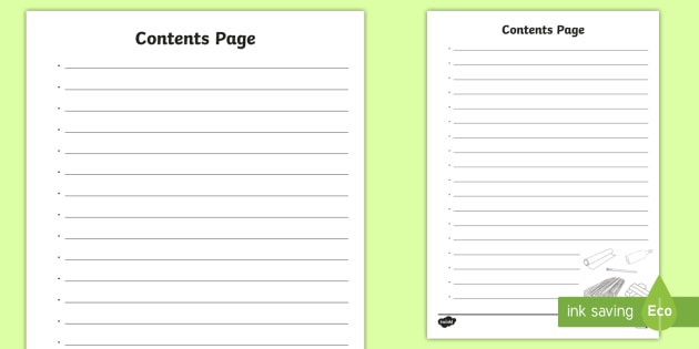 Content Page Template from images.twinkl.co.uk
