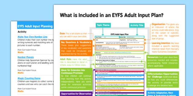 EYFS Maths: Counts Objects to 10 EYFS Adult Input Planning and Resource Pack Overview - counts, objects, adult input, plan