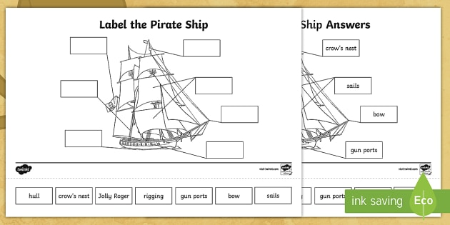 Pirate Ship Diagrams Labels From Outside - Electrical Drawing Wiring ...