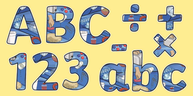 Properties and Changes of Materials Themed Display Letters and Numbers Pack - Science lettering, Science display, Science display lettering, properties, changes, materials