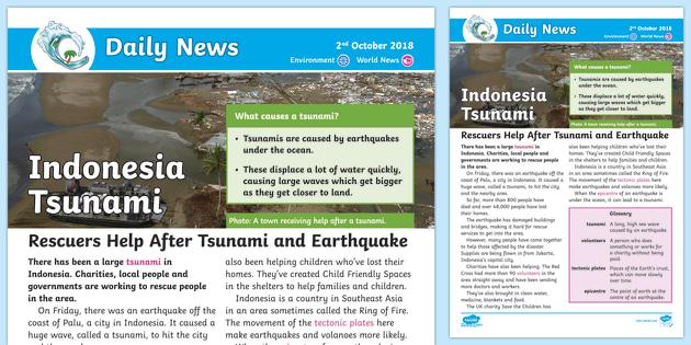Asian tsunami newspaper report fantastic