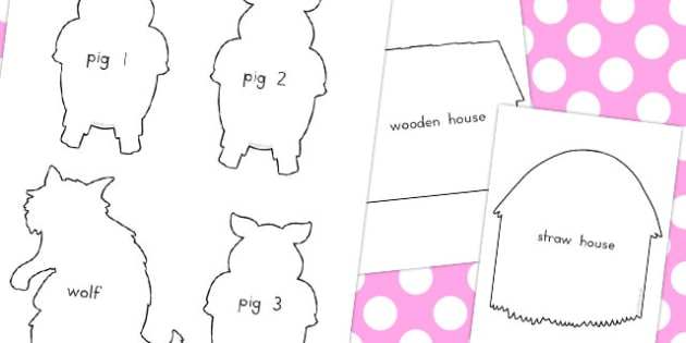 pig puppet template - the three little pigs shadow puppets australia shadow