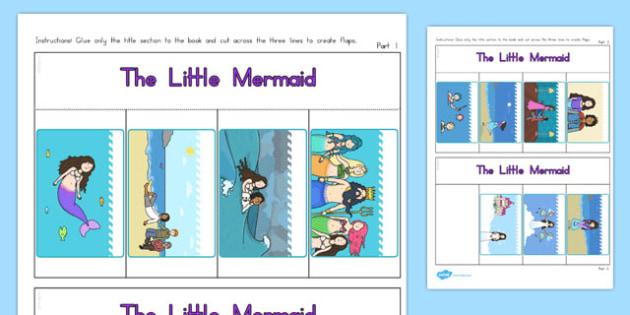 The Little Mermaid Story Writing Flap Book - australia, little mermaid