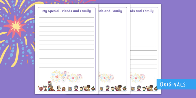 Sparks in the Sky Family Fun Writing Frames - fireworks