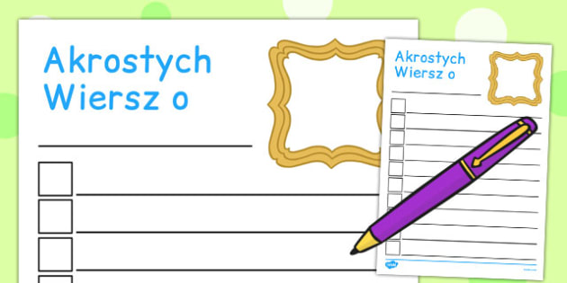 All About Me Acrostic Poem Template Polish - polish, all about me