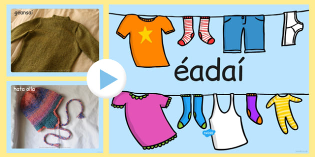 Clothing Photo PowerPoint Gaeilge - clothing, photo powerpoint, clothing photos, clothing images, clothing powerpoint, clothing images, clothing powerpoint