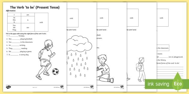 The Verb 'To Be' Grammar Worksheet (Present Tense)