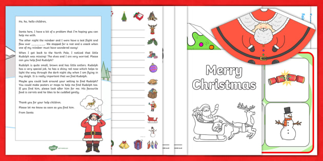 Merry Christmas Letter Y.Editable Christmas Present From Santa Letter And Resource
