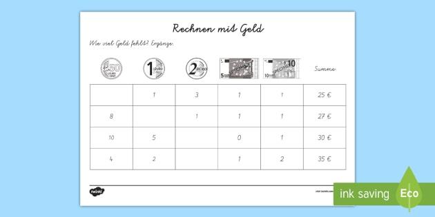 Nice Zählen Geld Arbeitsblatt Collection - Mathe Arbeitsblatt ...