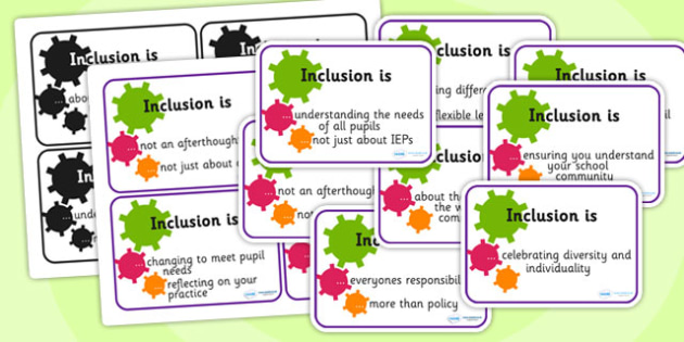 Inclusion Discussion Prompt Cards - inclusion, discussion, cards