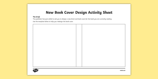 Book Cover Template Worksheet : New book cover design worksheet activity sheet irish