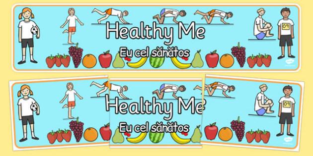 Healthy Me Display Banner Romanian Translation - romanian, healthy eating, health, header