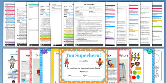 EYFS Superhero Themed Adult Input Planning and Resource Pack - superhero, super hero, eyfs, early years planning