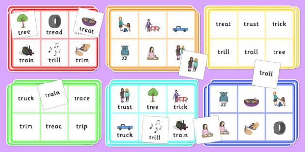 TR Bingo - tr sound, bingo, game, activity, sound, tr, sen, bingo game