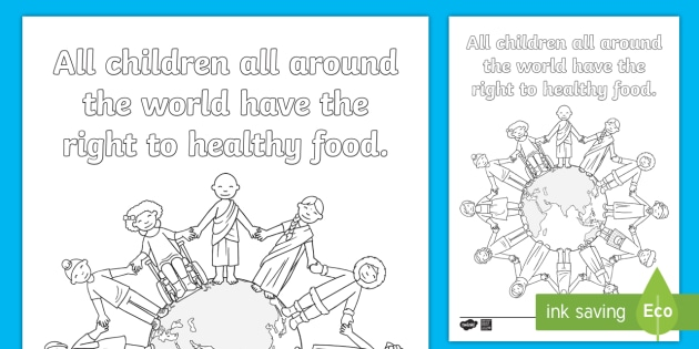 - FREE! - Kindergarten All Children Have The Right Coloring Page - EY/KS1