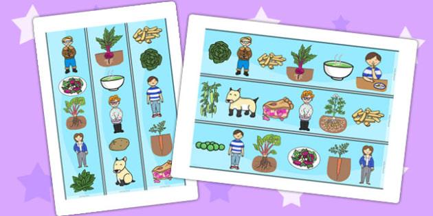 Oliver's Vegetables Display Borders - Oliver's vegetables, border