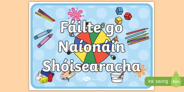 Welcome to Junior Infants Display Poster-Irish