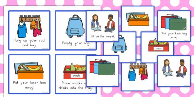 Classroom Morning Reminder Cards - australia, classroom, morning, reminder