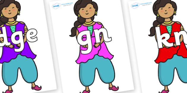Silent Letters on Princess - Silent Letters, silent letter, letter blend, consonant, consonants, digraph, trigraph, A-Z letters, literacy, alphabet, letters, alternative sounds