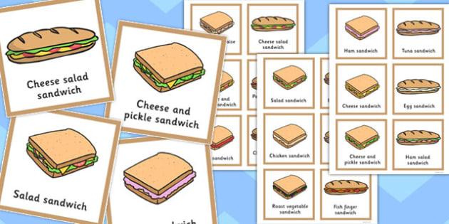 Final 'Ch' Sound In Multisyllabic Phrases Sandwich Cut Outs - cut