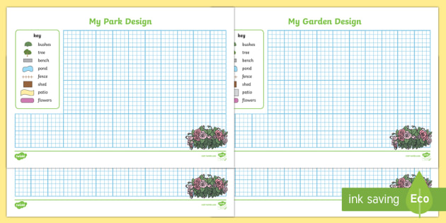 garden park design sheets garden park layout design landscaping - Garden Design Ks2