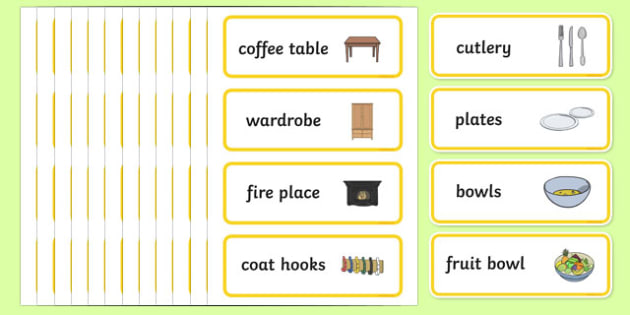 Home Corner Role Play Labels - home corner, role-play, labels