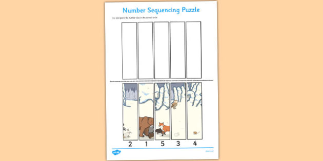 The Mitten Number Sequencing Puzzle - the mitten, number, puzzle