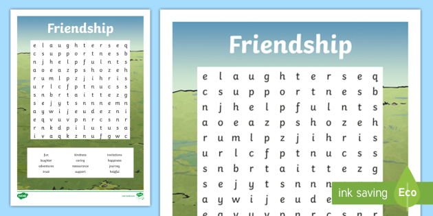 new friendship word search friends qualities of a good