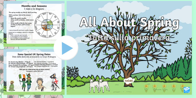 All About Spring PowerPoint English/Italian - spring, Spring, seasons