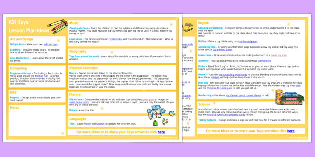 Toys KS1 Lesson Plan Ideas - toys, ks1, lesson plan, ideas, plan