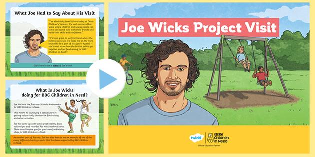 * NEW * KS2 BBC Children in Need Joe Wicks Project Visit